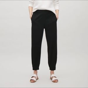 COS black elastic waist pants